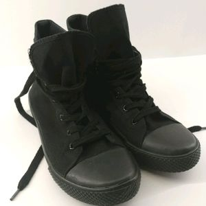 Airwalk Black High Top Lace Up Skater Shoes